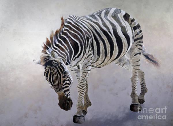 Wall Art - Painting - Equus Burchelli 2 by Odile Kidd