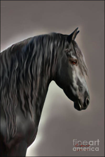 Black Buck Painting - Equus by Corey Ford