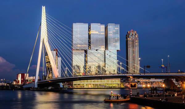 Photograph - Eramus Bridge In Rotterdam, Netherlands  by Alexandre Rotenberg