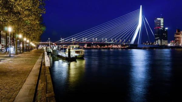Photograph - Erasmus Bridge, Rotterdam, Netherlands by Alexandre Rotenberg