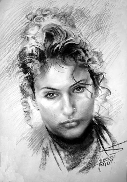 Portraits Drawing - Erbora by Ylli Haruni