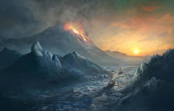 Wall Art - Painting - Erebus Mount by Guillem H Pongiluppi
