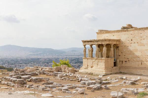 Wall Art - Photograph - Erechtheum Temple On The Acropolis Of Athens, Greece by Iordanis Pallikaras