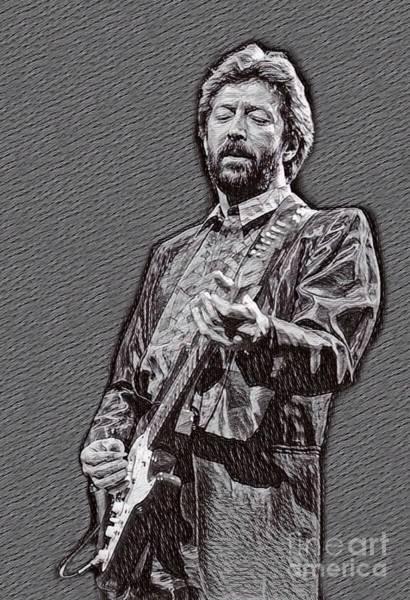 Yardbird Wall Art - Drawing - Eric Clapton Drawing by Eric Clapton Drawing