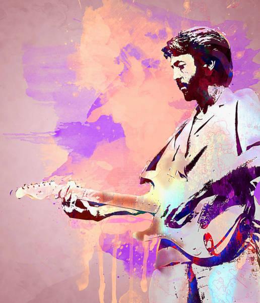 Yardbird Wall Art - Digital Art - Eric Clapton by Elena Kosvincheva