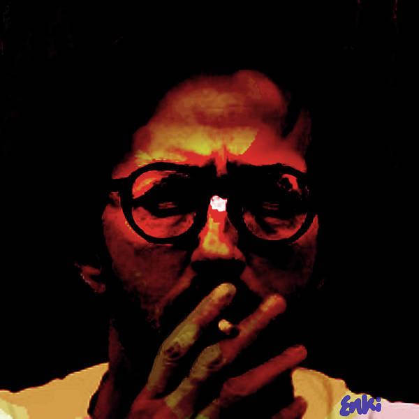 Blue Oyster Cult Wall Art - Mixed Media - Eric Clapton by Enki Art