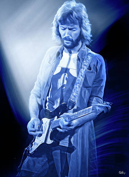 Wall Art - Digital Art - Eric Clapton Guitarist by Mal Bray