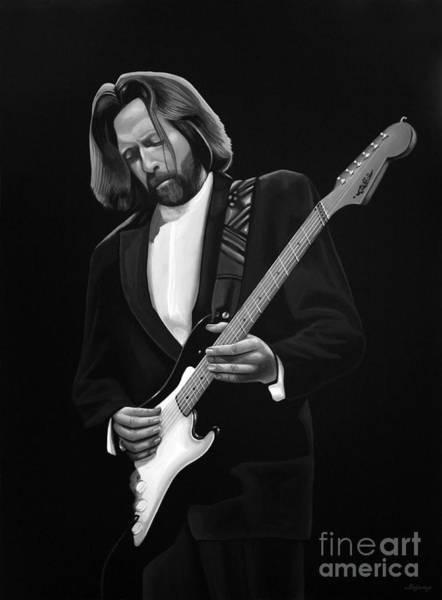 Yardbird Wall Art - Mixed Media - Eric Clapton by Meijering Manupix