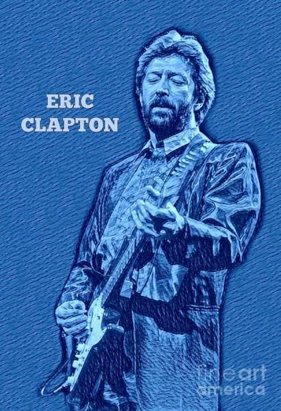 Yardbird Wall Art - Digital Art - Eric Clapton Poster by Pd