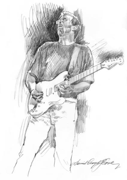 Drawing - Eric Clapton Strat by David Lloyd Glover