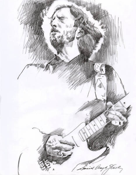 Drawing - Eric Clapton Sustains by David Lloyd Glover