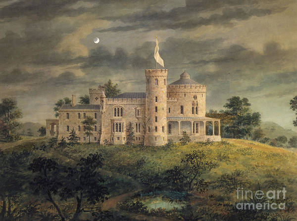 Upstate New York Painting - Ericstan, Tarrytown, New York, 1855 by Alexander Jackson Davis