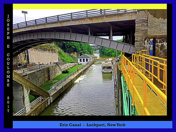 Digital Art - Erie Canal Ny Downtown View by Joseph Coulombe