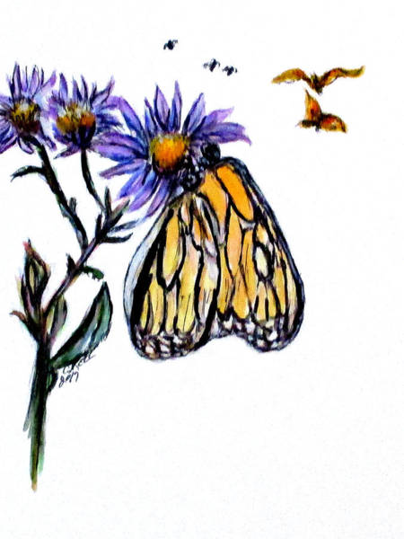 Painting - Erika's Butterfly One by Clyde J Kell