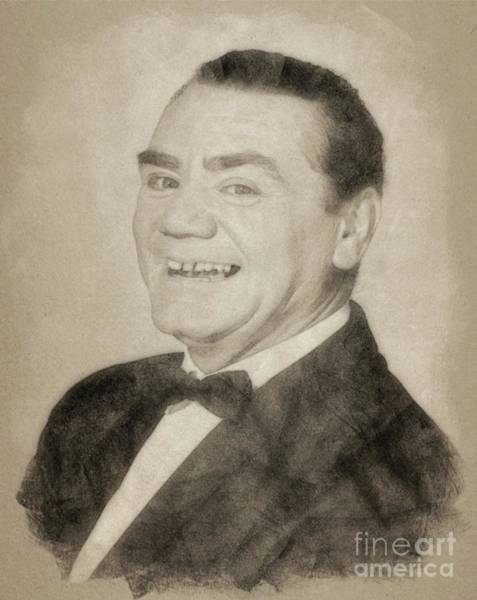 Pinewood Drawing - Ernest Borgnine, Hollywood Legend By John Springfield by John Springfield