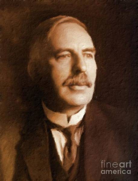 Poetry Painting - Ernest Rutherford, Scientist By Mary Bassett by Mary Bassett