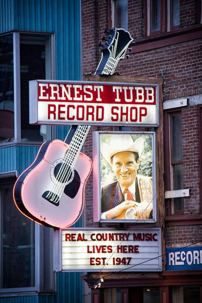 Corner Shop Wall Art - Photograph - Ernest Tubb Record Shop by Mike Burgquist