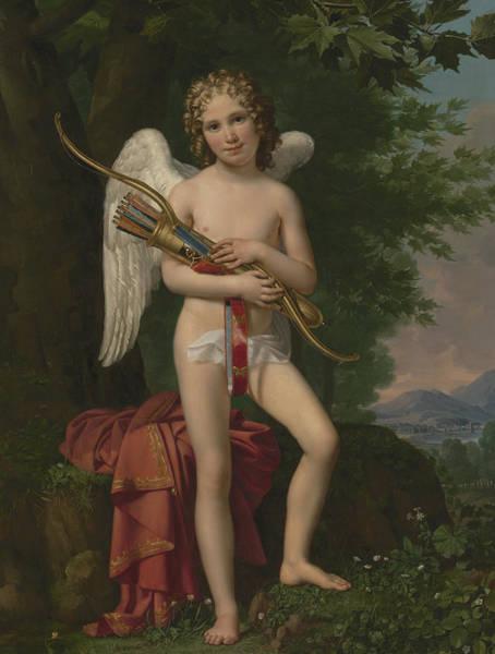 Archery Wall Art - Painting - Eros by Joseph Paelinck