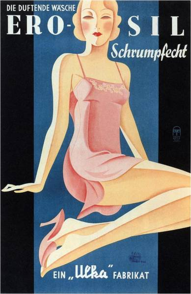 Clothing Mixed Media - Erosil - Schrumpfecht - Die Duftende Wasche - Vintage Advertising Poster by Studio Grafiikka