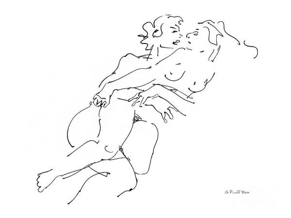 Having Sex Drawing - Erotic Art Drawings 13 by Gordon Punt