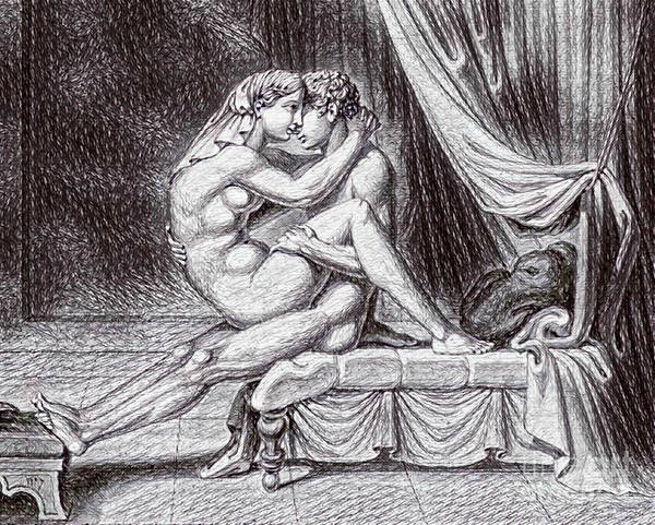 Having Sex Painting - Erotic Nude Drawing One by Pd