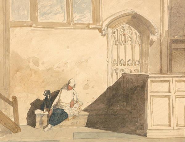 Painting - Errand Boy Asleep In A Church by John Sell Cotman