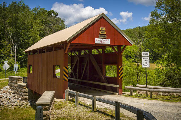 Photograph - Erskine Covered Bridge by Jack R Perry