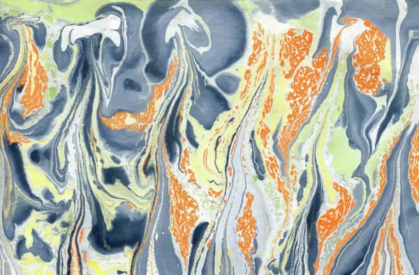 Painting - Erupting Lava by Menega Sabidussi