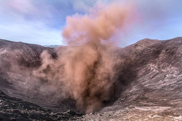 Rauch Wall Art - Photograph - Erupting Mount Bromo - Java by Joana Kruse