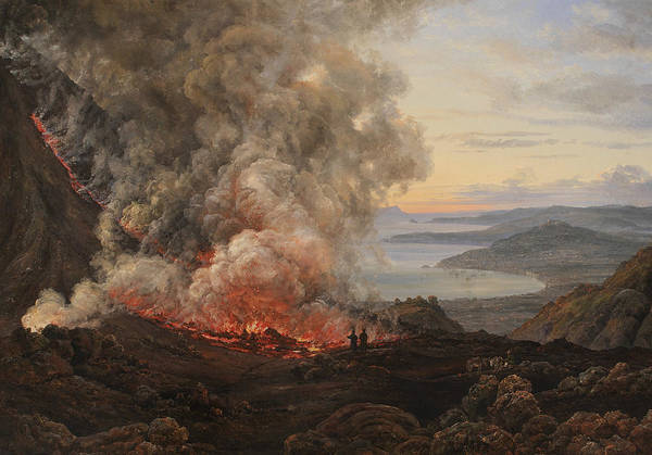 Painting - Eruption Of The Volcano Vesuvius by Johan Christian Dahl