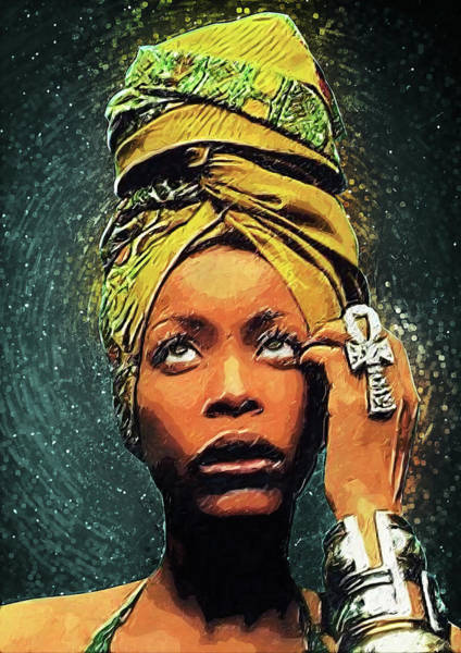 Soul Wall Art - Digital Art - Erykah Badu by Zapista Zapista