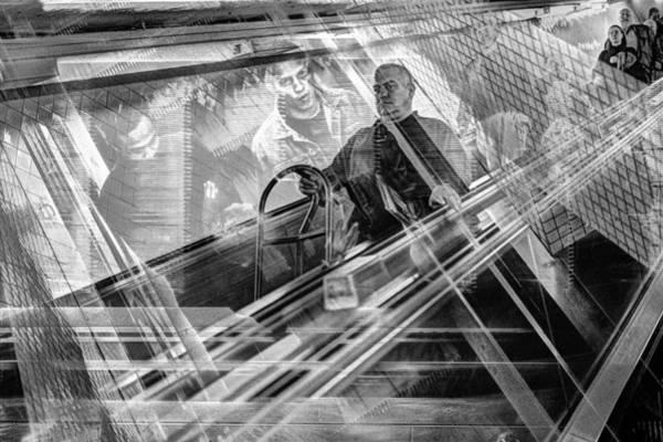 Photograph - Escalator Collage 1 by Dave Beckerman