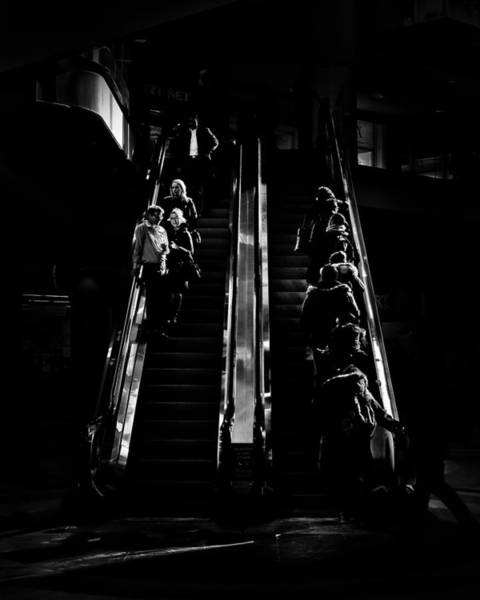 Photograph - Escalator No 1 by Brian Carson