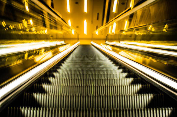 Photograph - Escalator by Stephen Holst
