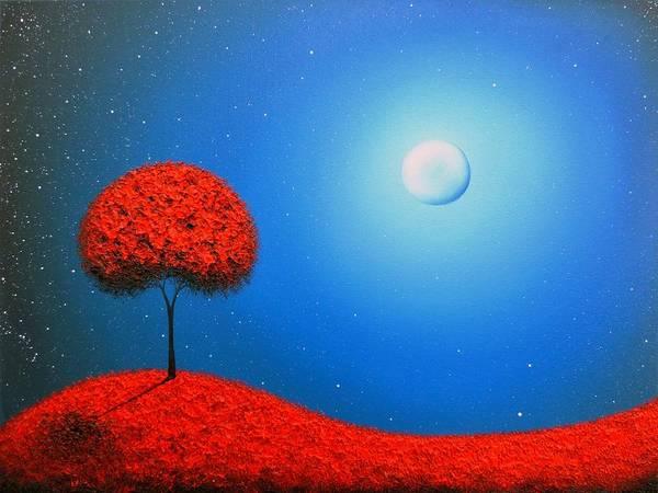 Full Moon Painting - Escape  by Rachel Bingaman