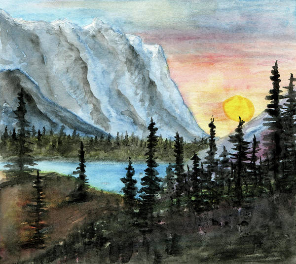 Escarpment Valley Sun Art Print