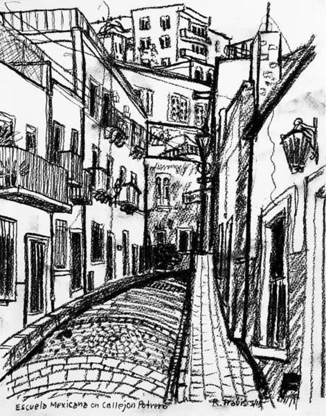 Wall Art - Drawing - Escuela Mexicana by Rich Travis