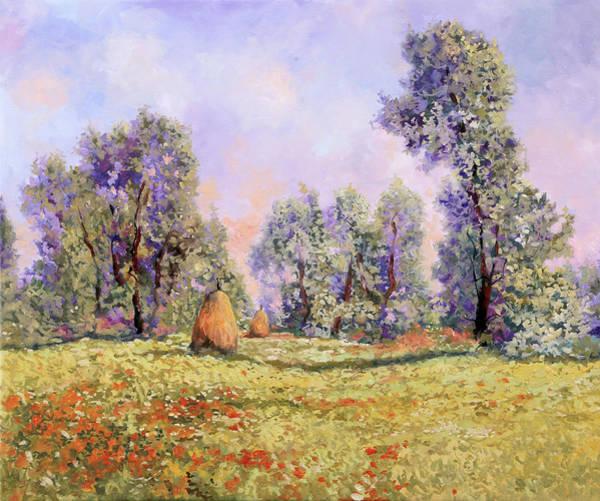 Poppy Field Painting - Esercizi Impressionisti by Guido Borelli