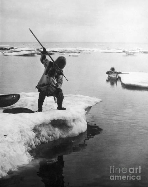 Photograph - Eskimo Fishermen by Granger
