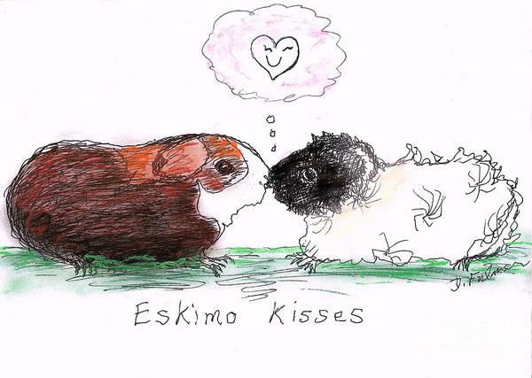 Eskimo Kisses Art Print