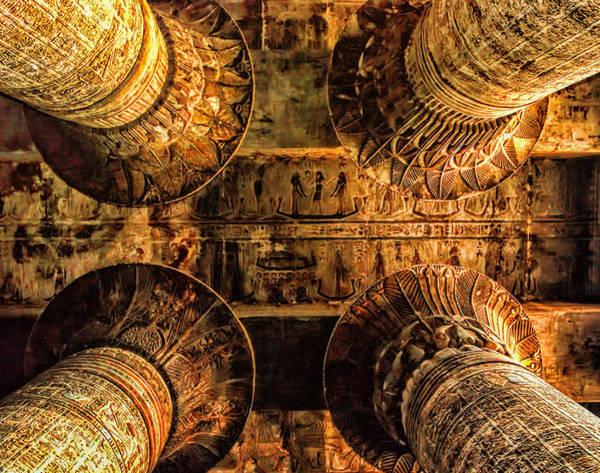 Photograph - Esna Capitals by Nigel Fletcher-Jones