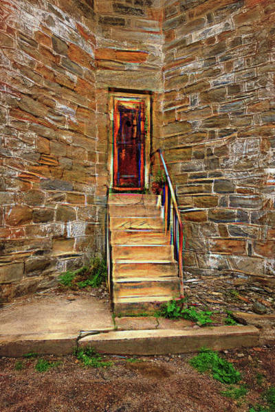 Photograph - Esp Tower Stairs by Tom Singleton