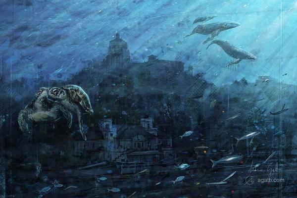 Ocean Scape Digital Art - Esperia by Andrea Gatti
