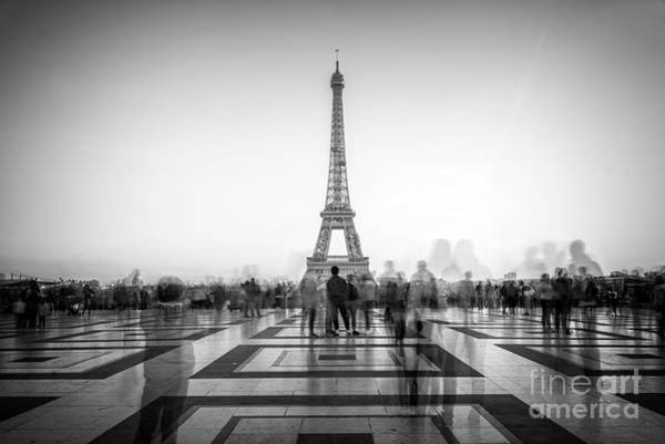 Square Tower Photograph - Esplanade Du Trocadero by Delphimages Photo Creations