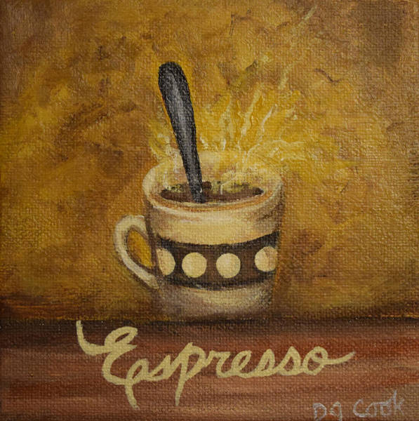 Coffee Painting - Espresso by Donna Cook