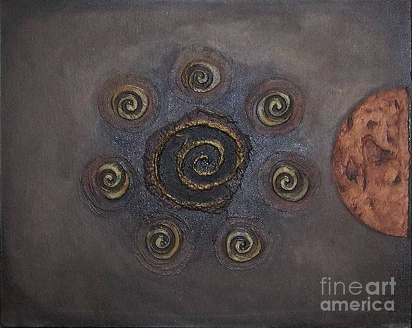 Recycled Materials Painting - Espresso Roast by Marlene Burns