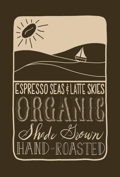 Digital Art - Espresso Seas And Latte Skies  by Lorrisa Dussault