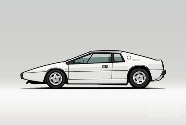 Wall Art - Digital Art - Esprit S1 Monaco White 1976 by Monkey Crisis On Mars
