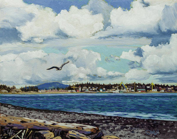 Painting - Esquimalt Harbor by Rob Owen