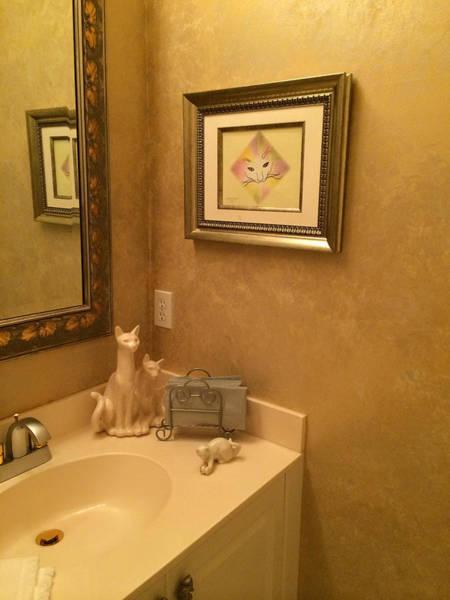 Painting - Essence Of Cat On Wall by Karen Zuk Rosenblatt